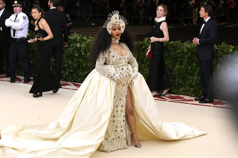 Cardi B attends the Heavenly Bodies: Fashion & The Catholic Imagination Costume Institute Gala at The Metropolitan Museum of Art on May 7, 2018 in New York City.