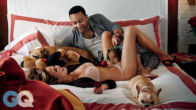 Illustration for article titled Dog, World Demand John Legend and Chrissy Teigen STFU About Their Love
