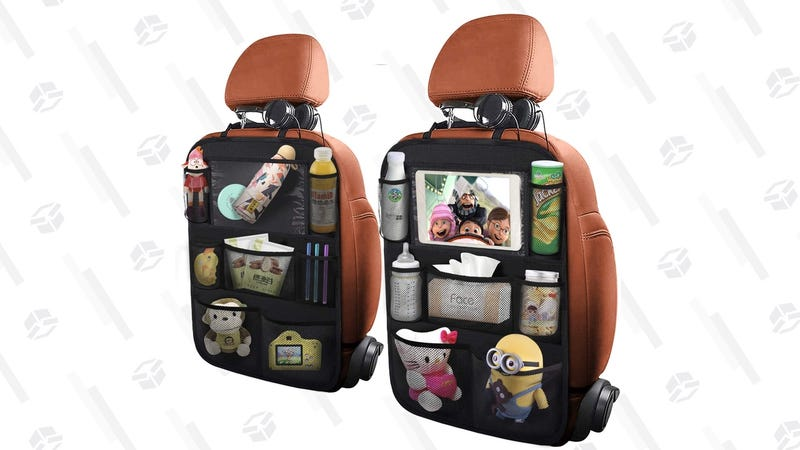 Two-Pack Backseat Organizers With Tablet Holders  $14   Amazon   Promo code VJTZR7BM