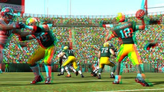 Illustration for article titled Play Madden 11 In 3D, With Only A Pair Of Those Stupid Glasses And A Bag Of Chips