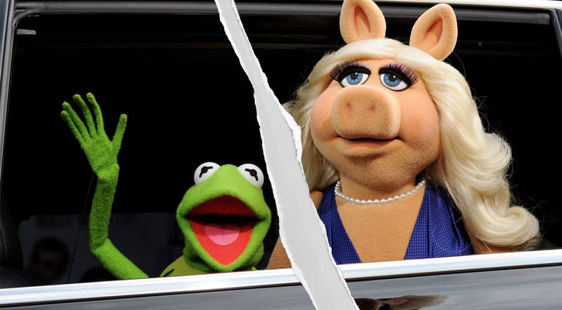 Illustration for article titled Rainbow Disconnected: Kermit the Frog and Miss Piggy Have Broken Up