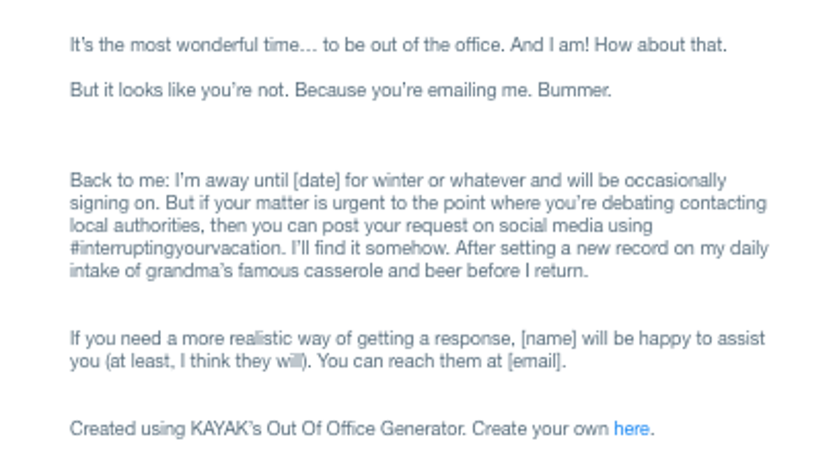 Spice Up Your 'Out of Office' Autoresponder With This OOO