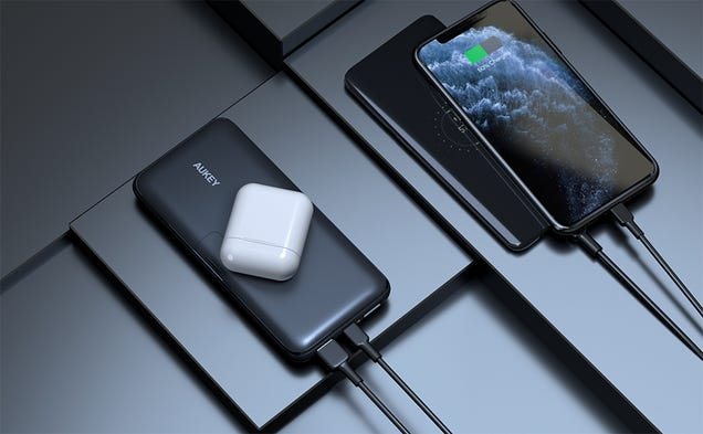 Take a Stand Against Low Battery With $9 off This Portable Wireless Charging Stand From Aukey