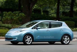 Illustration for article titled Nissan EV Claims 367 MPGe, Tells Volt To Shove it