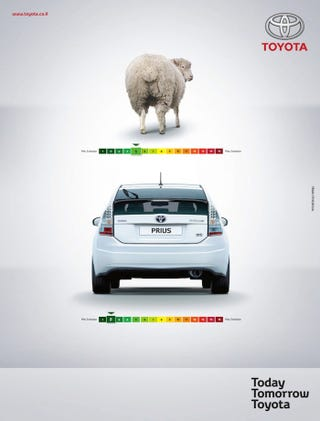 Illustration for article titled Toyota Says Prius Is Better Than Sheep Farts
