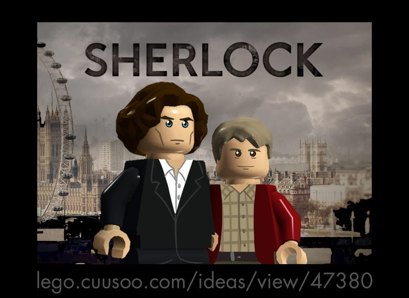 Illustration for article titled Oh my god, there's a CUUSOO project for Lego Sherlock
