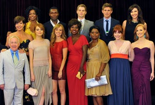 The cast of The Help at the Beverly Hills premiere (Getty Images)