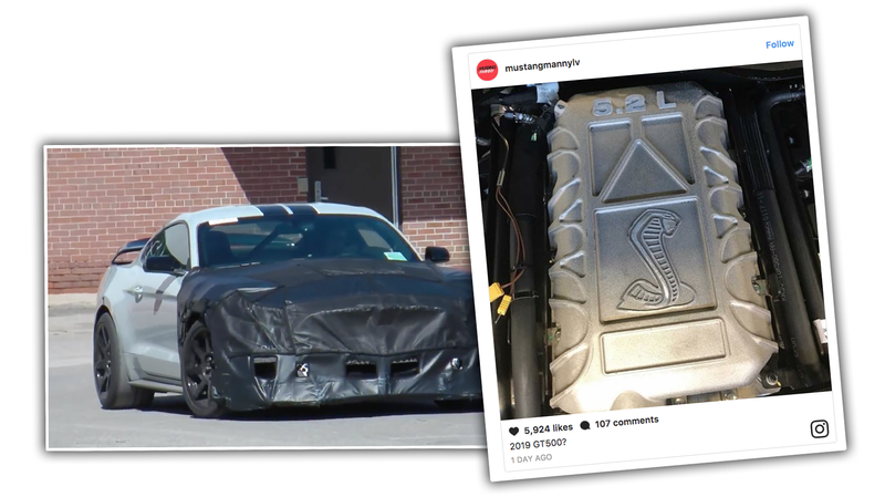 Illustration for article titled There's A Picture Of What Seems To Be The 2019 Ford Shelby GT500 Engine On Instagram