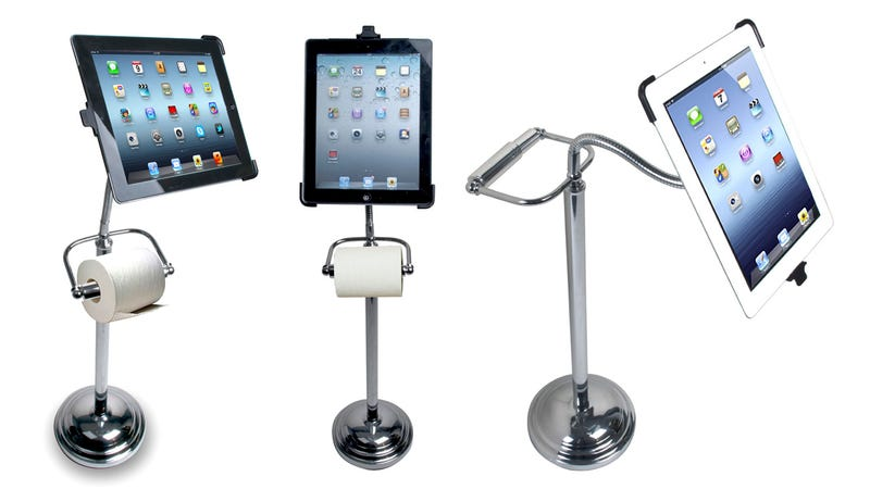 Illustration for article titled Secretly We All Want This Toilet-Paper-Holding iPad Stand