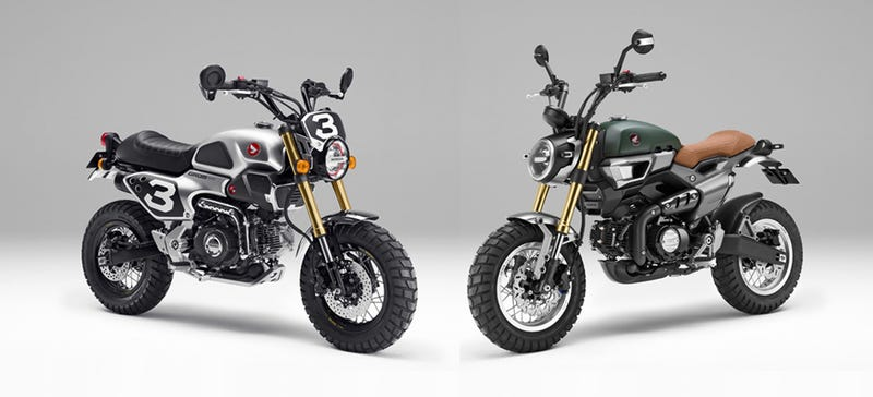 Illustration for article titled Honda Grom Scramblers Are The Retro Micro Motorcycles Of Your Dreams