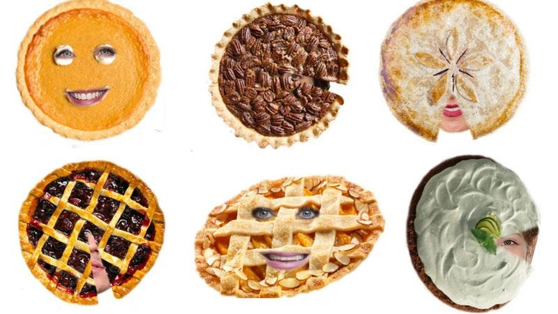 Illustration for article titled Celebrate Pi Day with these pastry-faced celebrity abominations