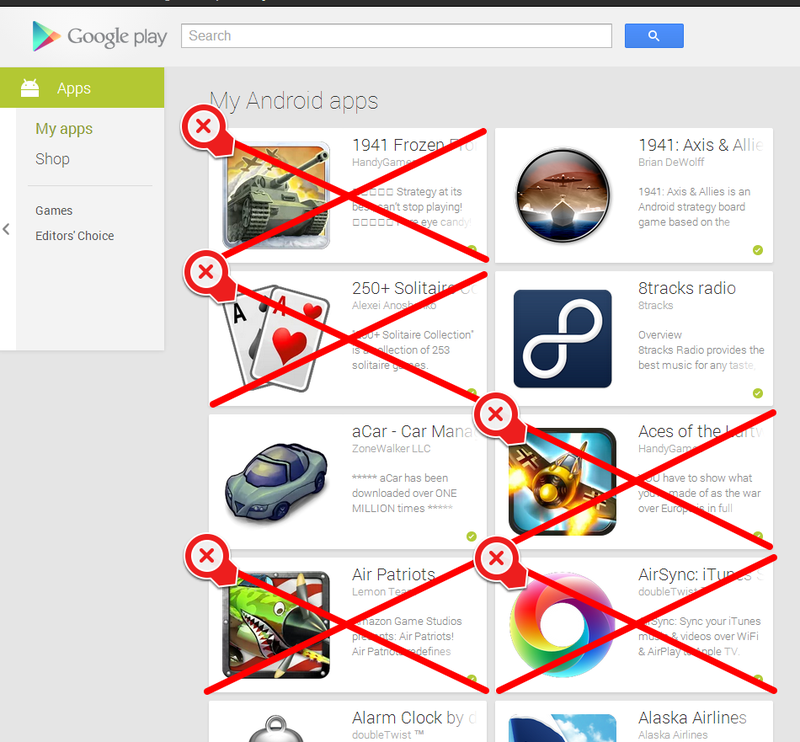 """Illustration for article titled PSA: Clean Up Your Google Play """"My Apps"""" List"""