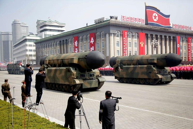 Corea del Norte, durante el aniversario celebrado el 15 de abril. AP