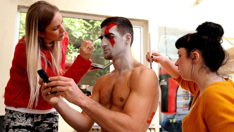 Boxer Carl Froch as live-action Kratos in 2013