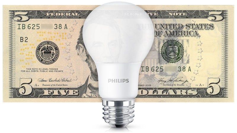 Philips A19 LED Light Bulb, Soft White