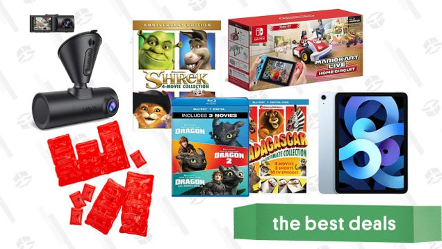 Wednesday s Best Deals: Apple iPad Air, Mario Kart Live: Home Circuit, Vava Dual Dash Cam, Reusable Heat Pads, DreamWorks Animated Movies, and More