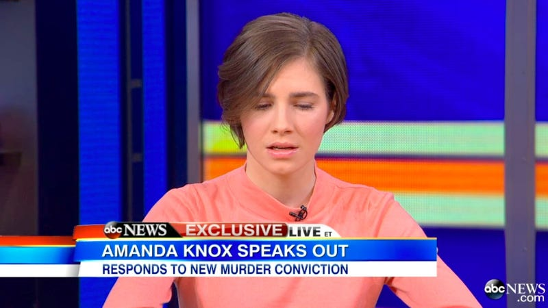 Illustration for article titled Amanda Knox Says Hearing Her Guilty Verdict 'Hit Her Like a Train'