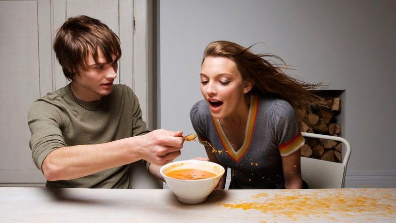It's hard to enjoy soup in a windy dining room. (Photo: Betsie Van Der Meer/Getty Images)