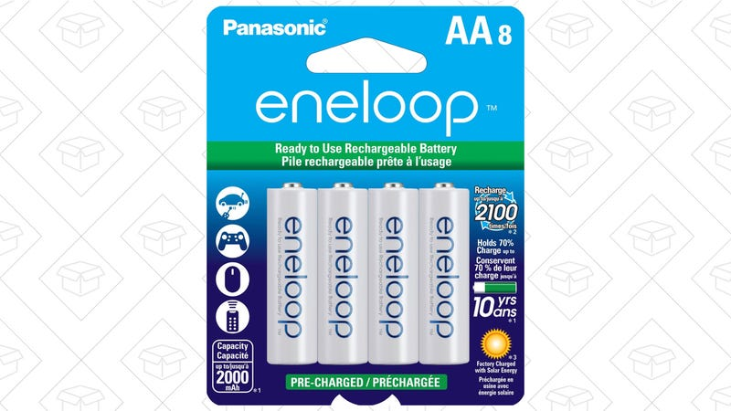 Panasonic Enelopp AA Pack of 8, $18