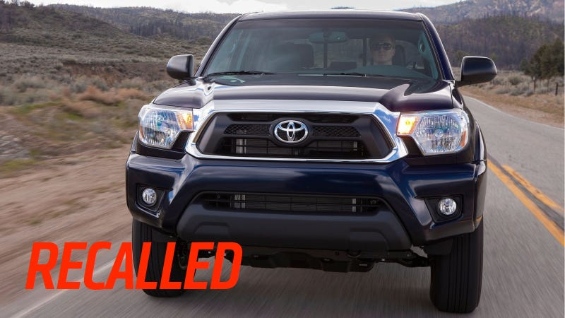 Illustration for article titled Toyota Recalls 261,114 Tacomas, RAV4s, and Lexus RX350s Built In 2012
