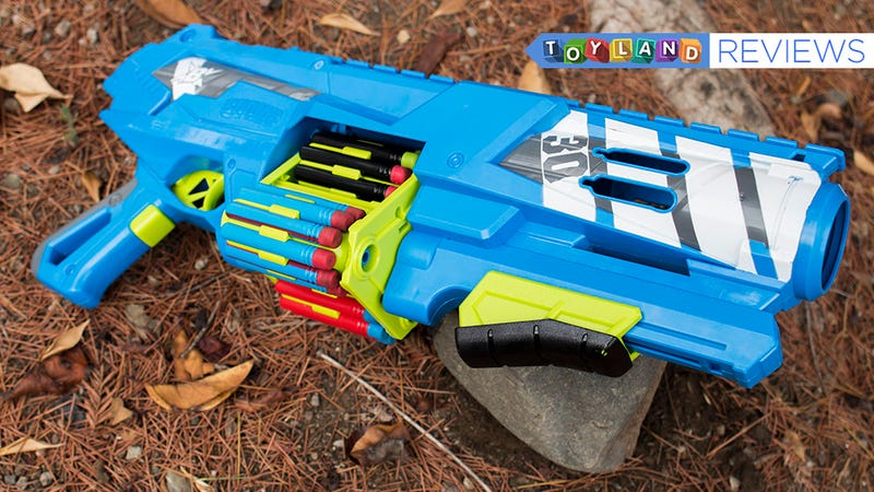 Illustration for article titled Review: I'm So Bummed BOOMco's Spinsanity 3X Isn't a Better Dart Gun