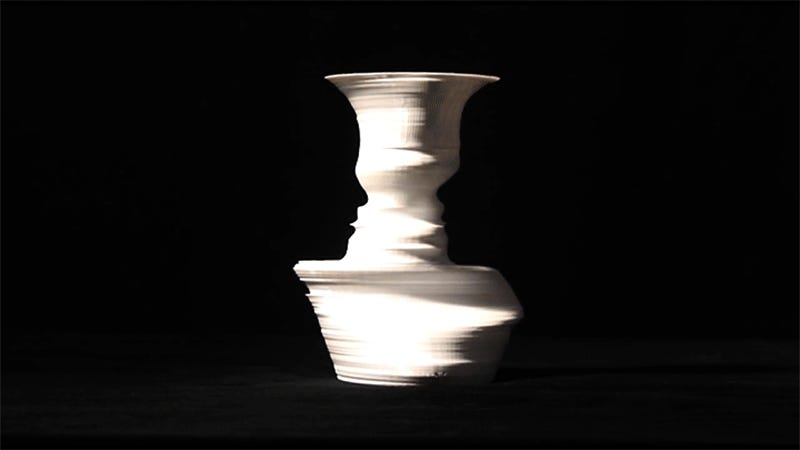This 3d Printed Vase Shows Different Peoples Faces As You Turn It