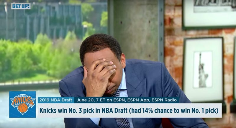Illustration for article titled Stephen A. Smith Wrings Emmy-Worthy Performance Out Of Knicks' Lottery Agony