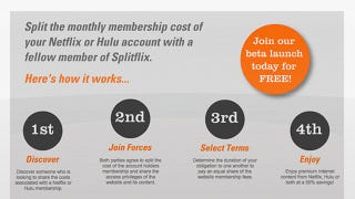 Illustration for article titled Splitflix: Share the Cost of Your Hulu and Netflix Subscriptions