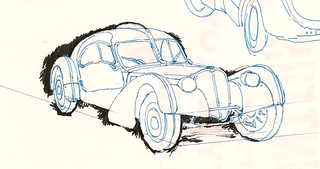 Illustration for article titled '38 Bugatti Type 57SC Atlantic: Sketched