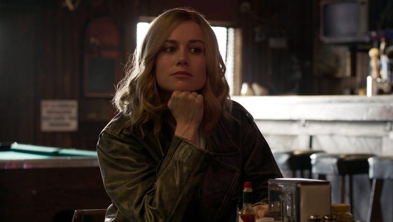 Brie Larson as Carol Danvers.