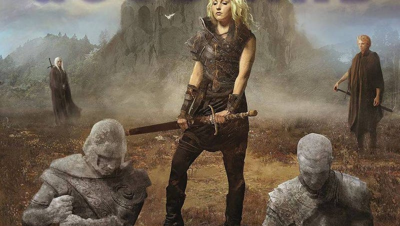 Part of the cover art for Shroud of Eternity, which author Terry Goodkind has criticized.