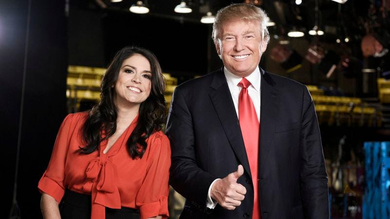 Trump with Saturday Night Live's Cecily Strong
