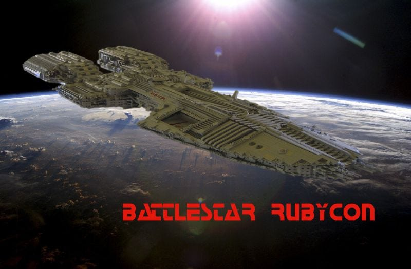 Illustration for article titled Battlestar Rubycon Is More Than Four Nerdy Feet of Lego Goodness