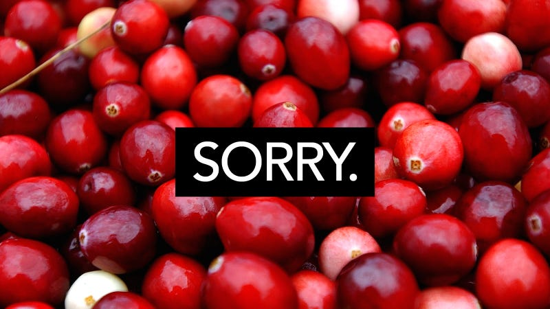 Image of cranberries via Getty.