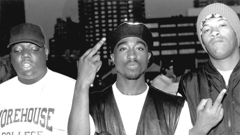 Biggie Smalls, Tupac Shakur, and Redman. (Photo: Al Pereira/Getty Images)
