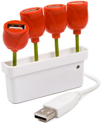 Illustration for article titled Tulip USB Hub Is Nothing But Flowers and Sunshine (and USB Ports)