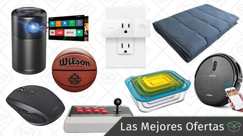 Illustration for article titled Las mejores ofertas de este lunes: Manta con peso, proyector portátil, aspiradora robótica y más