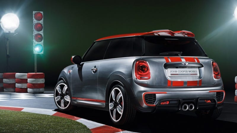 Illustration for article titled The 2014 Mini John Cooper Works Concept Seems Appropriately Crazy