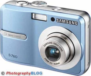 Illustration for article titled Samsung Announces S760 and S860 Cheapish Cameras