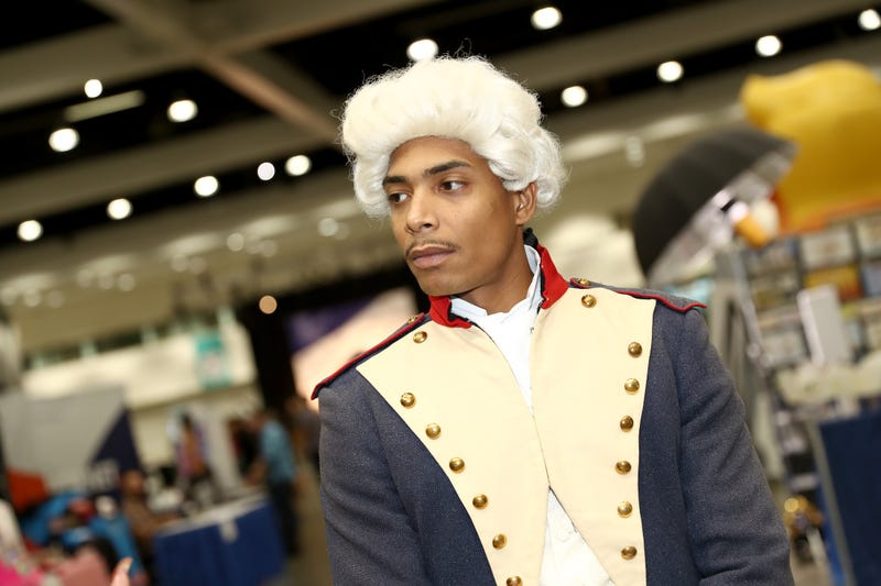 A guest in cosplay attends Politicon 2018 at Los Angeles Convention Center on Oct. 21, 2018, in Los Angeles.