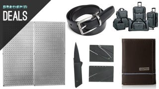 Illustration for article titled Men's Clothing and Accessory Gold Box, $1 Credit Card Knife, Pegboard