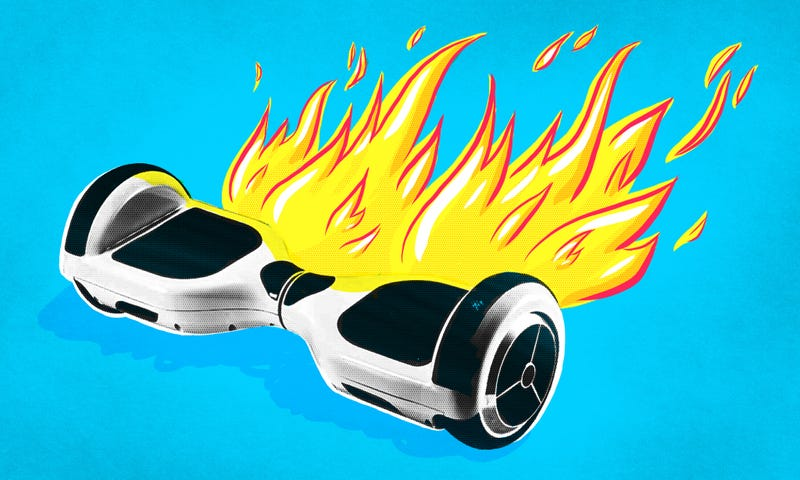 Illustration for article titled Hoverboards Keep Catching on Fire and the Government Wants to Know Why