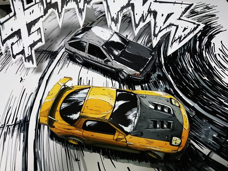 Illustration for article titled You Are Not Looking At A Manga Drawing Of Cars