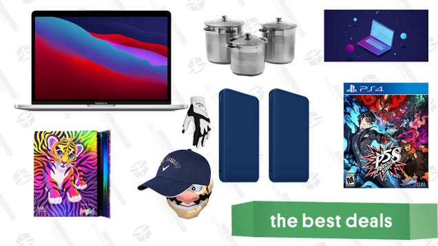 Monday s Best Deals: M1 MacBook Pro, Learn to Code 2021 Bundle, Persona 5 Strikers, Stainless Steel Stock Pots, Lisa Frank Cosmetics, Callaway Golf Sale, and More