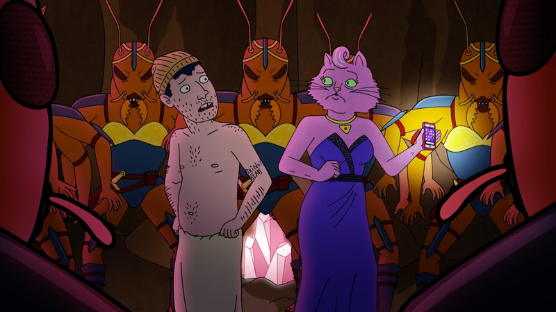 Todd and Princess Carolyn try to talk their way out of a hostile ant colony.