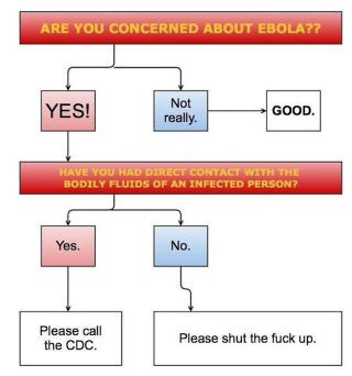 Illustration for article titled Should You Be Worried About Ebola? A Helpful Chart.