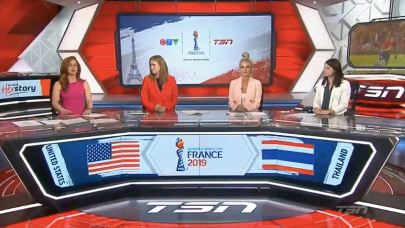 Illustration for article titled The USWNT's Blowout Of Thailand Inspires Indignant Pearl-Clutching From Canadian Soccer Pundits