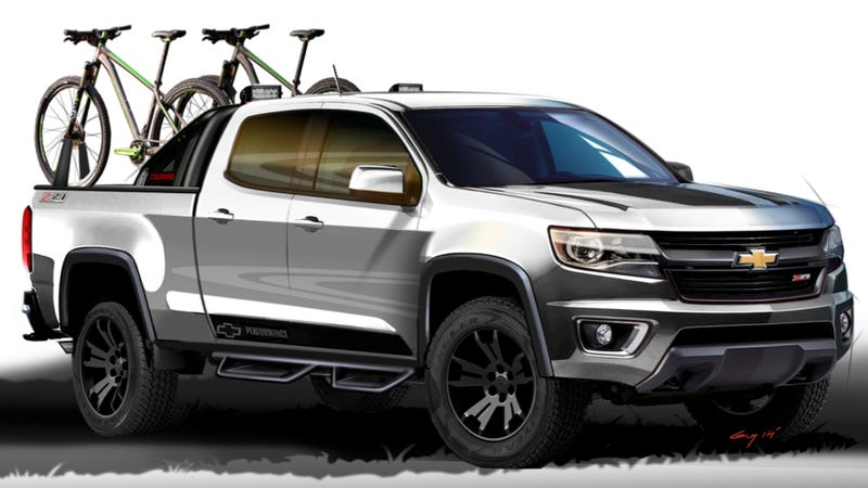 Illustration for article titled The First Modified 2015 Chevy Colorado Has Your Whole Weekend In The Bed