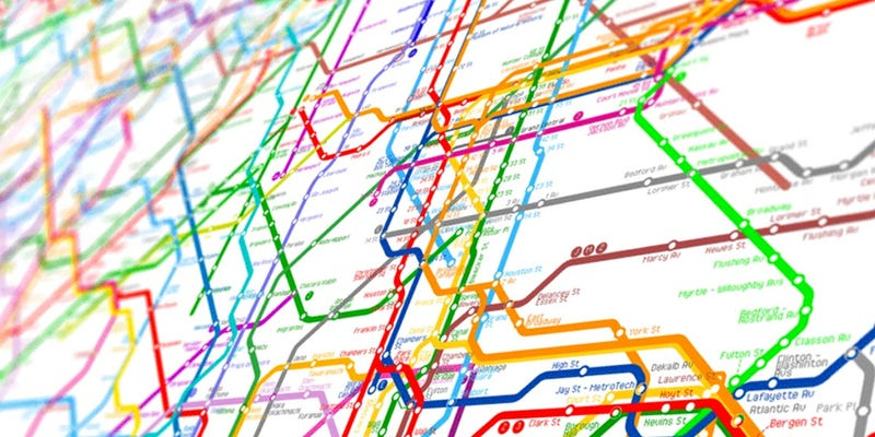 Illustration for article titled The World Metro Map Combines 214 Subway Systems Into One Glorious Mess
