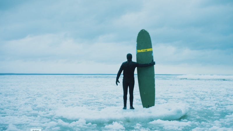 Illustration for article titled Last Call: WatchSurfer Dan catch icy waves in the Upper Peninsula